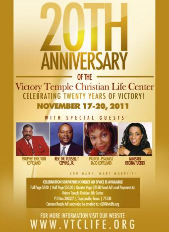 VICTORY TEMPLE CLC DALLAS VICTORY S 20TH